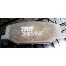Колодки тормозные передние TRW (GDB383)